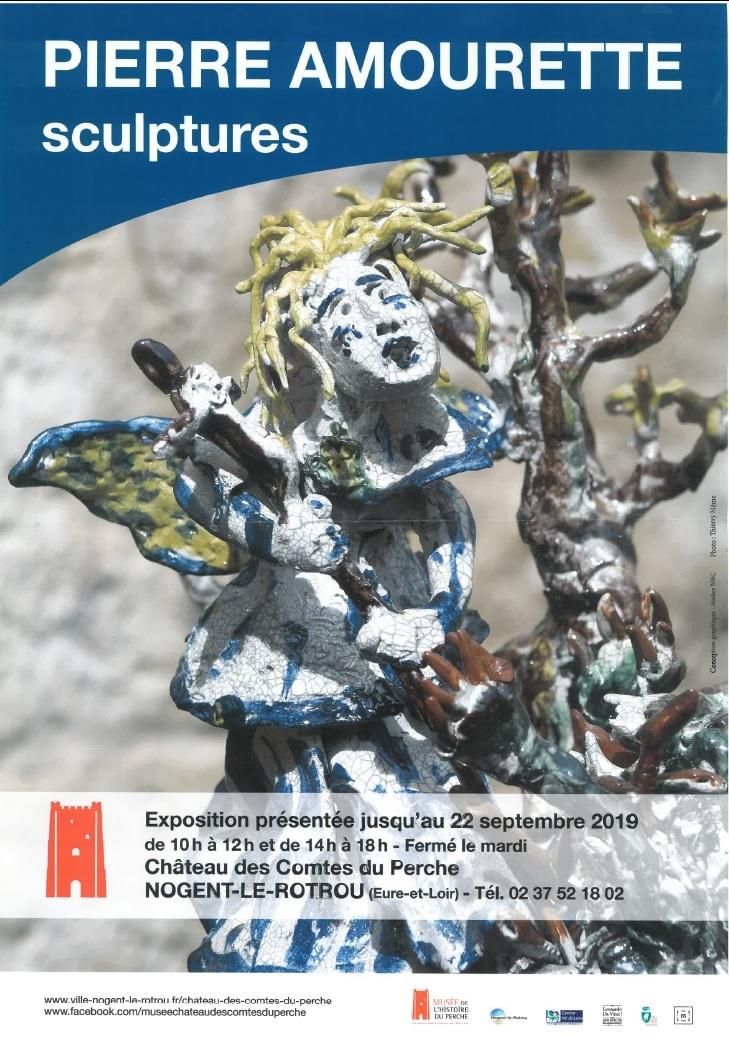 Exposition sculptures de Pierre Amourette à NOGENT-LE-ROTROU © château des comtes du perche