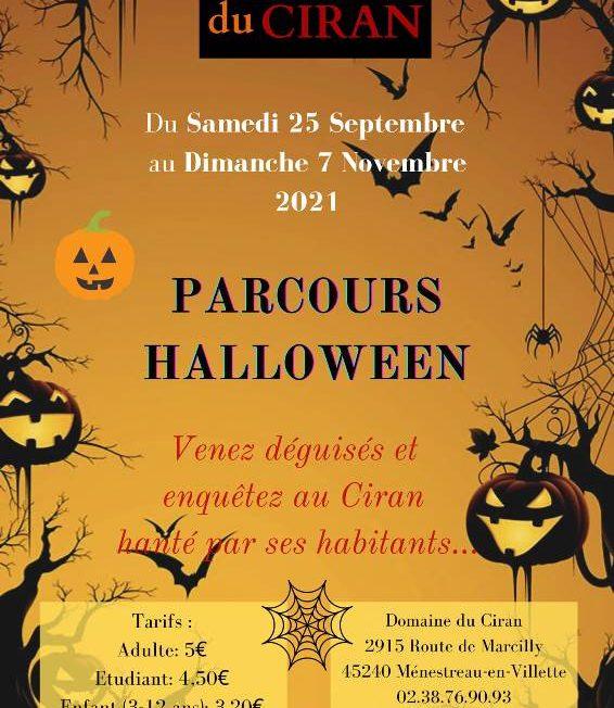 Parcours Halloween à MENESTREAU-EN-VILLETTE © Domaine du Ciran