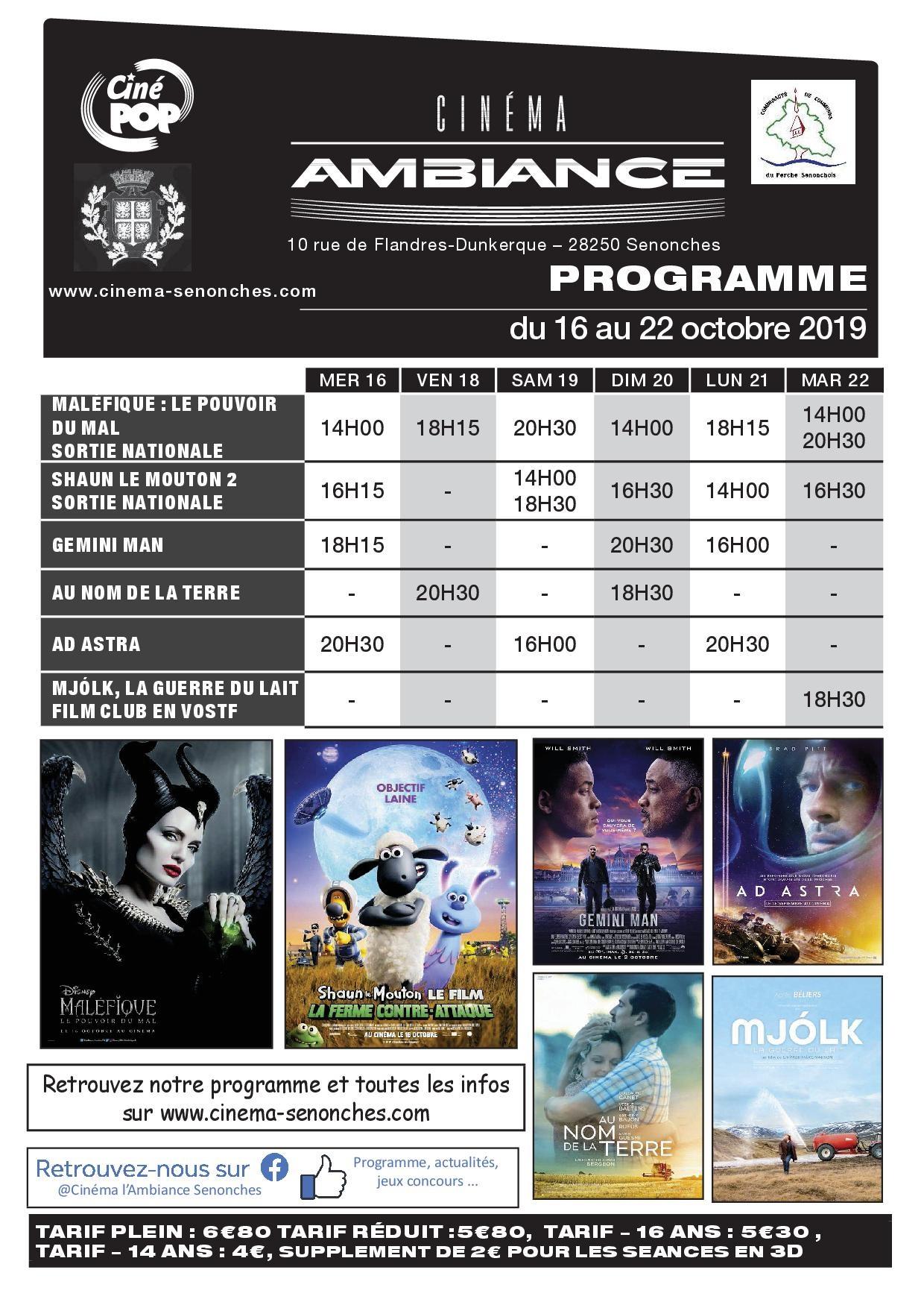 Programme cinéma à SENONCHES © cinema l ambiance