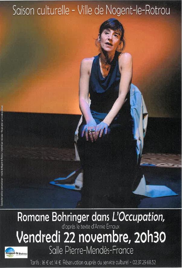 Romane Bohringer dans L'Occupation à NOGENT-LE-ROTROU © service culturelle nogent