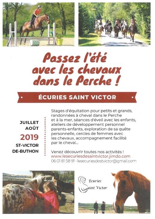 Le cheval, partenaire de notre évolution à SAINT-VICTOR-DE-BUTHON © ecuries saint-victor