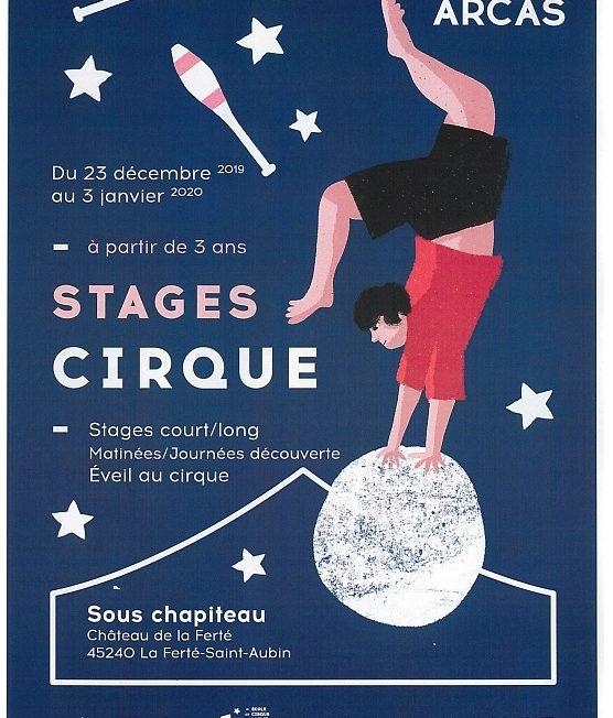 Stage Cirque du 23 décembre au 3 janvier à LA FERTE-SAINT-AUBIN © cirque