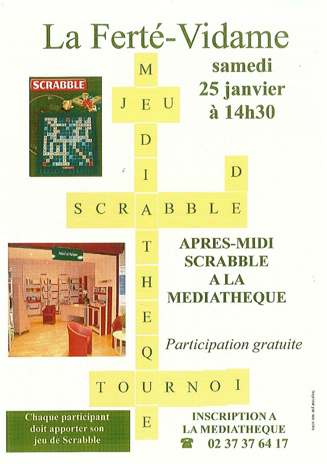 Après-Midi Scrabble à LA FERTE-VIDAME © médiathèque